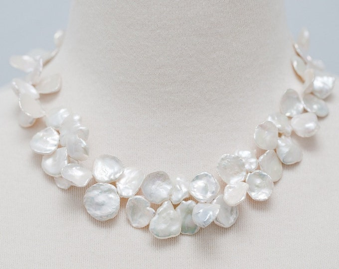 Keishi Pearl Necklace--Cornflake Pearls Gemstone Quality