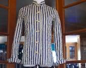 Vintage Jacket Quilted Asian Style Calico BOHO