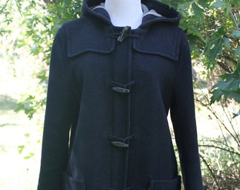 f4194be5a50c0 Vintage Navy Blue Toggle Coat