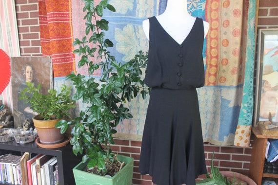 Vintage 60's Black Dress Sleeveless Audrey Hepburn