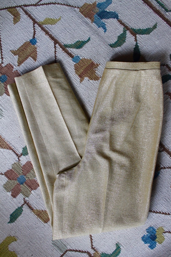 50's/60's Vintage Gold Cigarette Pants ROCKABILLY
