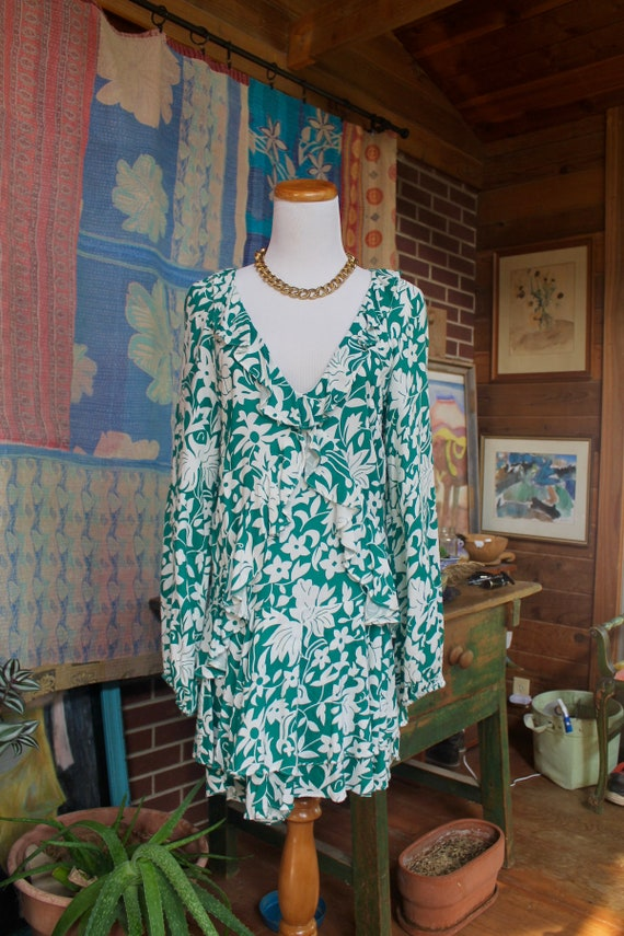Vintage Free People  Mini Dress with Ruffles - image 4