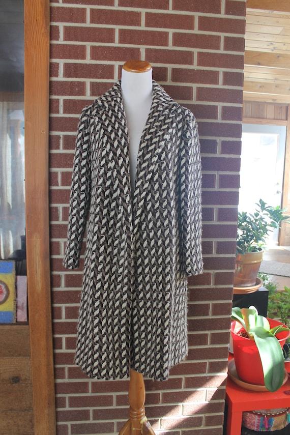 Vintage 70's Wool Tweed Coat