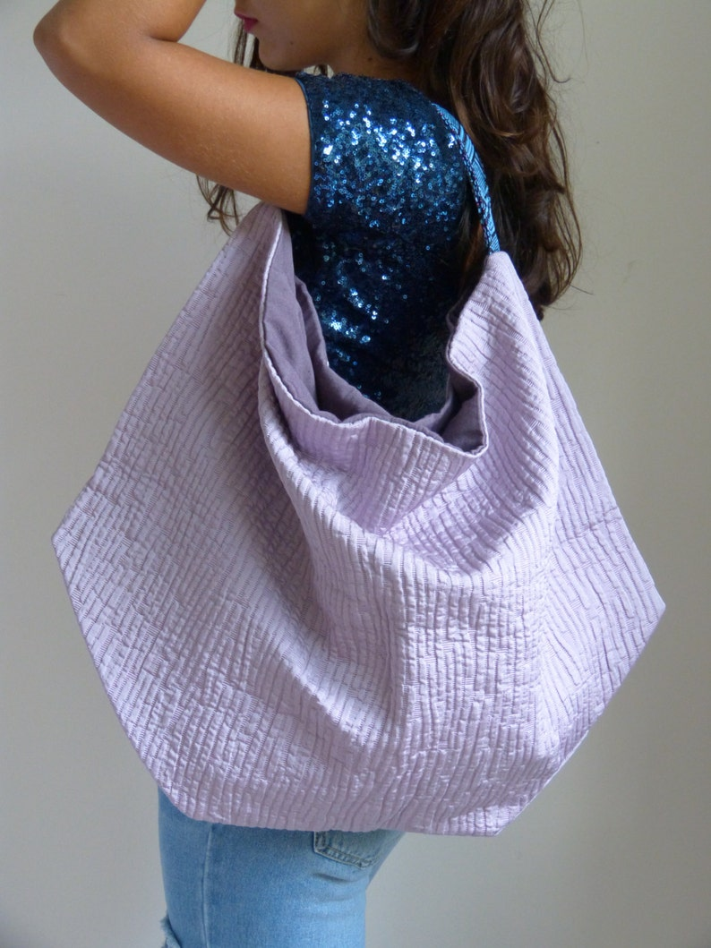 679877c77c6da Borse di stoffa da tappezzeria lilla sacca tessuto viola | Etsy