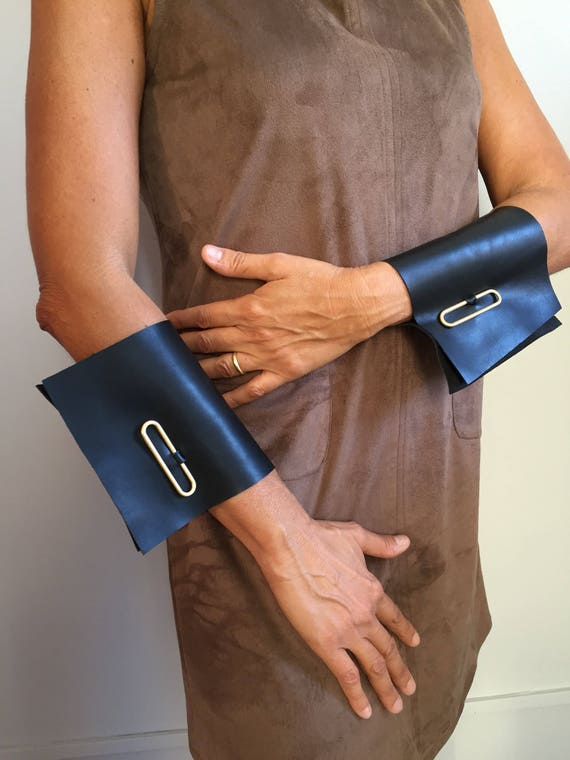 Minimalist leather wrist cuffs Etsy Top selling item