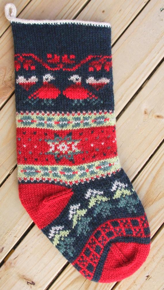 Turtledove Christmas Stocking Knit Pattern PDF | Etsy