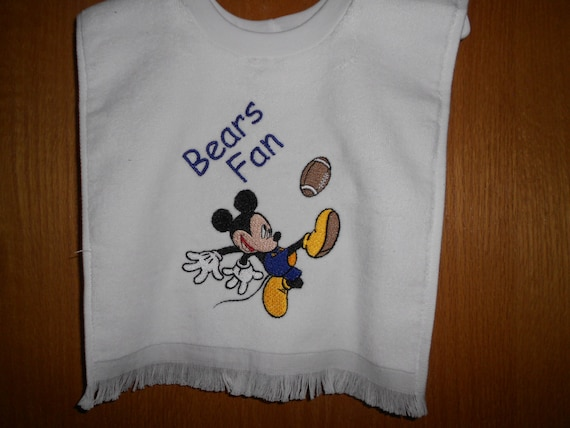 Mickey Football Player Embroidered Bib