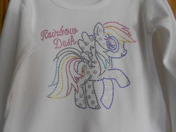 Rainbow Dash  Rhinestone Transfer