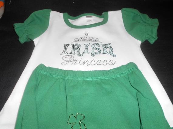 Irish Princess 2 pc Green & White Outfit