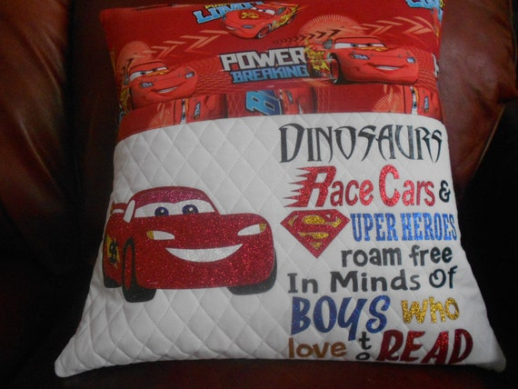Cars Reading Pillow