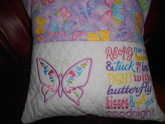 Butterfly Kisses  Reading Pillow