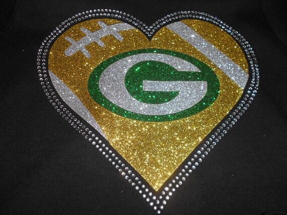 Green Bay Glitter and Rhinestone Transfer