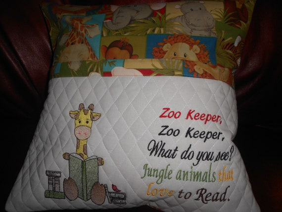 Zoo Keeper Reading Pillow
