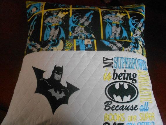 Batman Reading Pillow