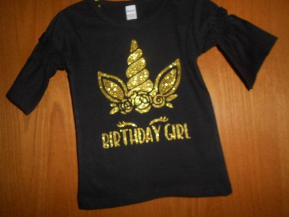 Birthday Girl Unicorn t Shirt