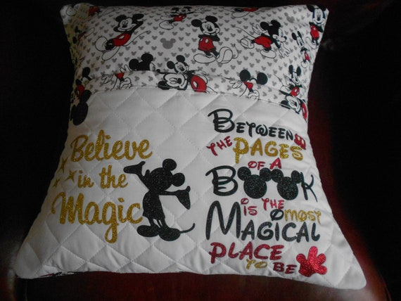 Believe in the Magic Mickey  Reading Pillow