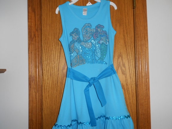 Cinderella  Belle and Ariel  Rhinestone   Dress