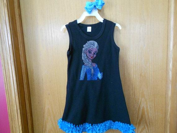 Elsa  Size  4 Rhinestone   Dress  SALE !!!