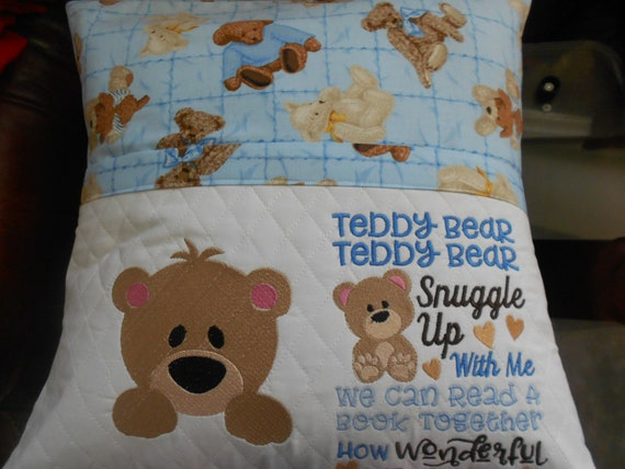 Teddy Bear Reading Pillow