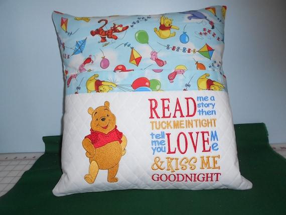 Teddy Bear Reading  Pocket Pillow