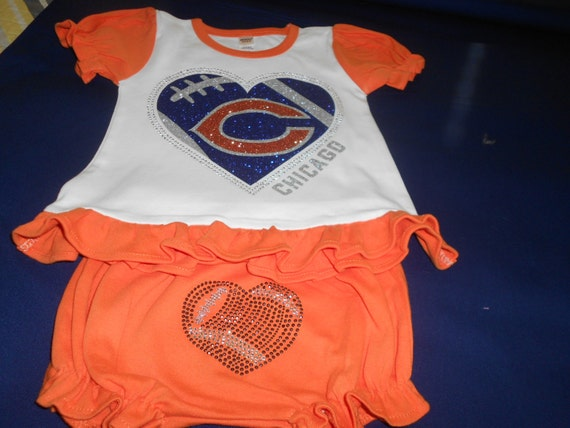 Glitter & Rhinestone 2 pc Outfit  Chicago Bears