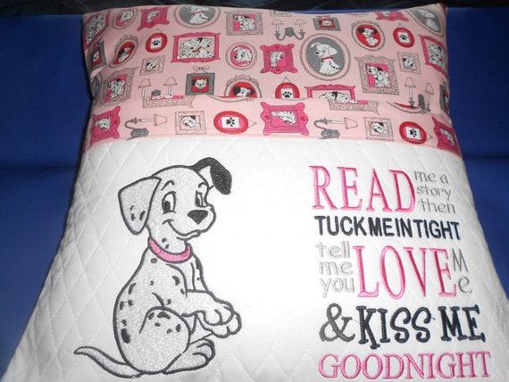 101 Dalmations Reading  Pocket Pillow