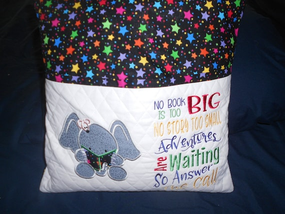 Elephant  Reading Pillow