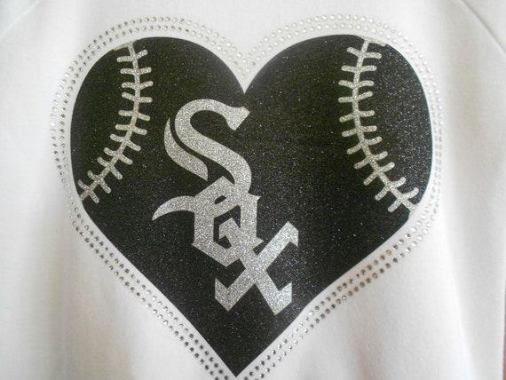 Chicago Sox  Glitter and Rhinestone Transfer