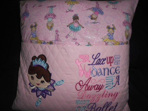 Ballerina Reading Pillow