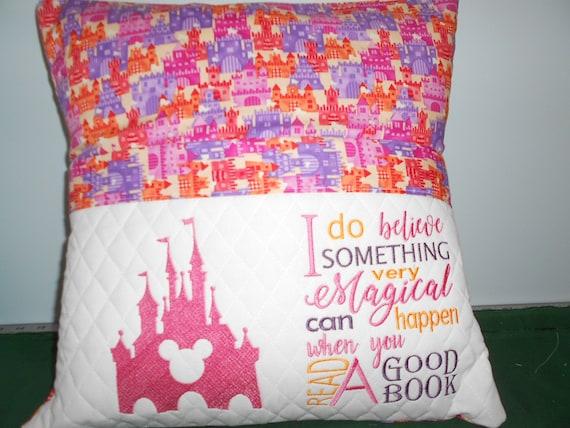 Disney Castle  Reading Pillow