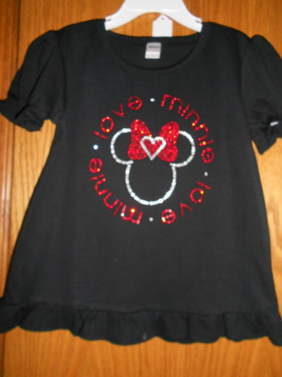 Rhinestone Love Minnie t Shirt