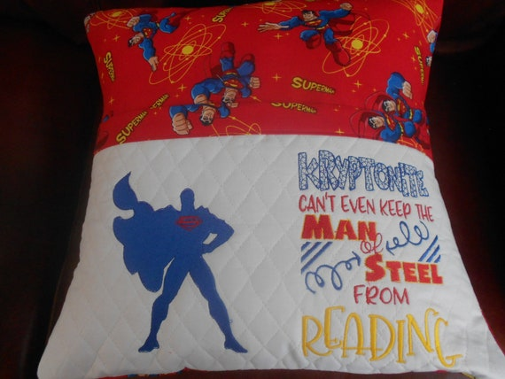Superman  Reading Pillow