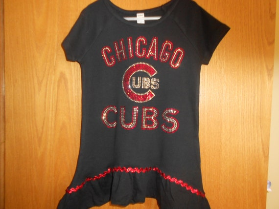Chicago Cubs Rhinestone   t Shirt