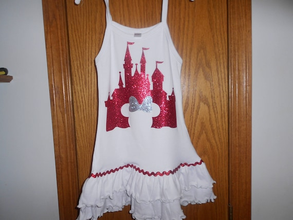 Disney Castle on White Dress