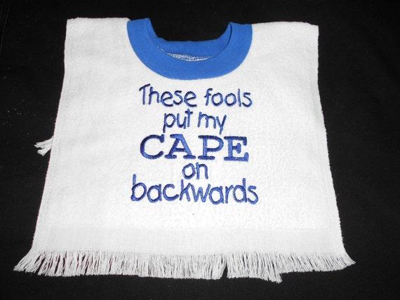 Boy's Cape on Backwards Bib