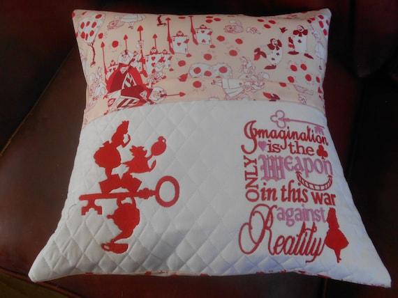 Alice in Wonderland Reading Pillow