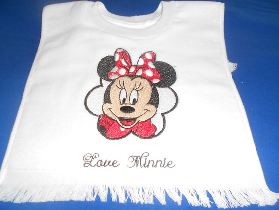 Love Minnie  over the head bib