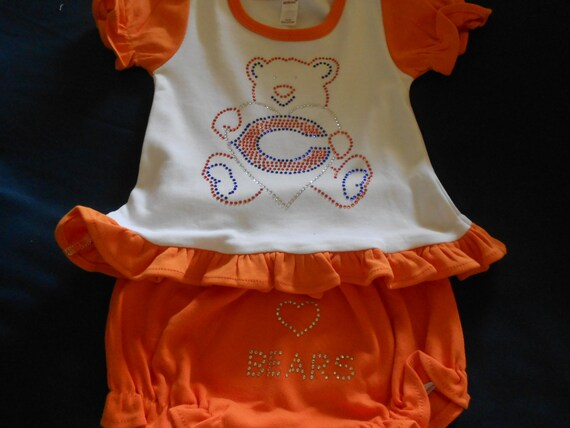 Chicago Bears  Rhinestone 2 piece outfit