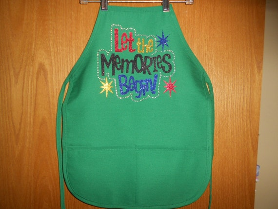 Let the Memories Begin  Child's  Apron with pockets