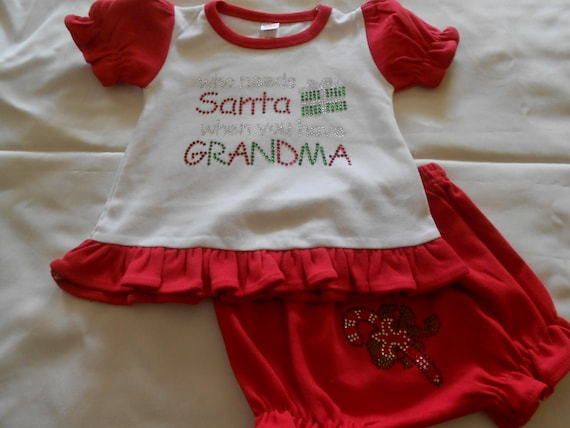 Who needs Santa When You have Grandma   2 pc set