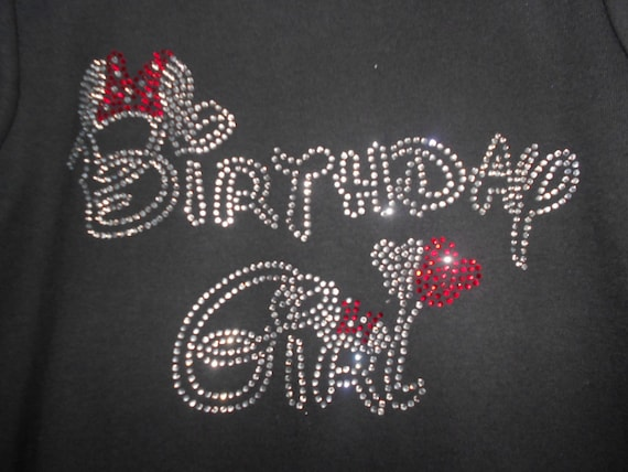 Birthday Girl Rhinestone Transfer