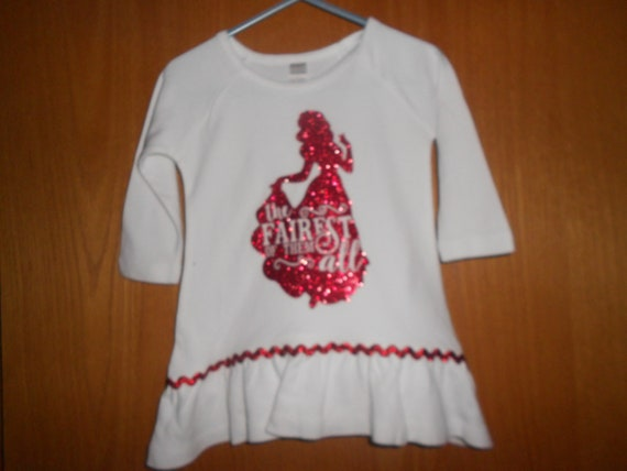 The fairest of them all Red Glitter TRANSFER