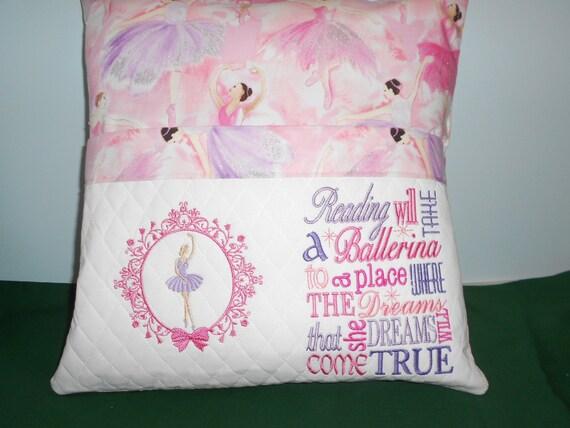Ballerina  Reading Pocket  Pillow