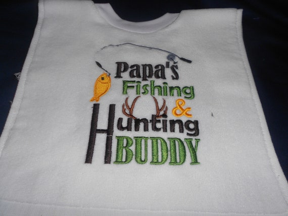 Papa's Fishing and Hunting Buddy over the head bib