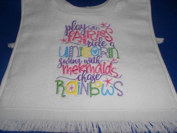 Chasing Rainbows  over the head bib