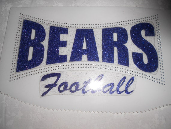 Chicago Bears Glitter and Rhinestone Transfer