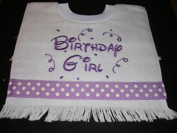 Girls Birthday bib