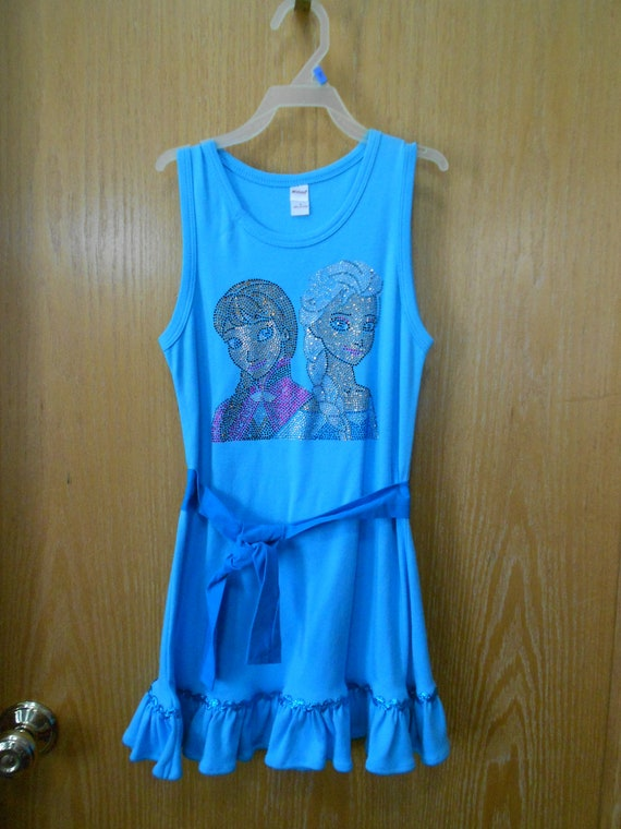 Elsa and Anna Size 8 Dress, SALE ! Frozen turquoise Dress