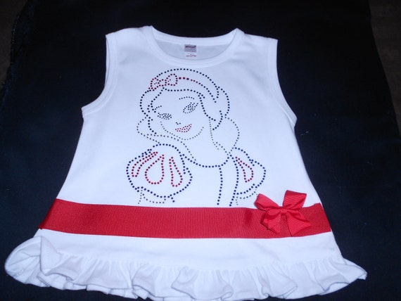 Sleeveless Snow White T Shirt