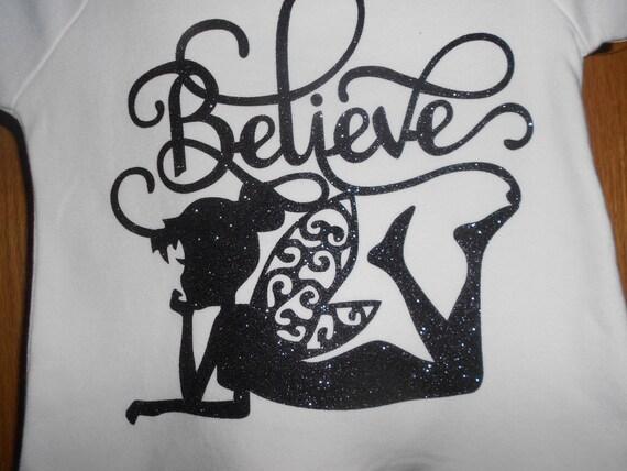 Believe Black Glitter  TRANSFER